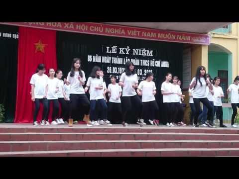 26/3/2016 Nhảy hiện đại tập thể - Lớp 9A Trường THCS Trần Hưng Đạo, QY, QN