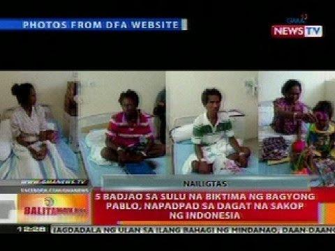 BT: 5 Badjao sa Sulu na biktima ng Bagyong Pablo, napadpad sa dagat na sakot ng Indonesia