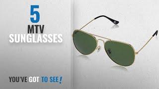 Top 10 Mtv Sunglasses [2018]: MTV Aviator Sunglass (Golden) (MTV-123|C9 58)