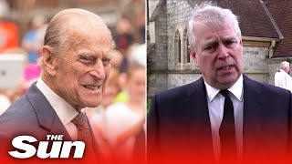 Prince Andrew Pays Tribute To His Father Prince Philip As 'grandfather Of The Nation'