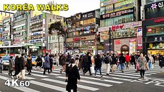 Cheonan City Walk in South Korea [4K60]
