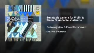 Sonata de camera for Violin & Piano:IV. Andante sostenuto