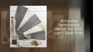 DIY Farmhouse Style Windmill Wall Decor from Ceiling Fan Blades by Sadie Seasongoods