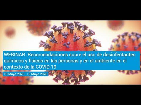 WEBINAR: Recomendaciones sobre el uso de desinfectantes