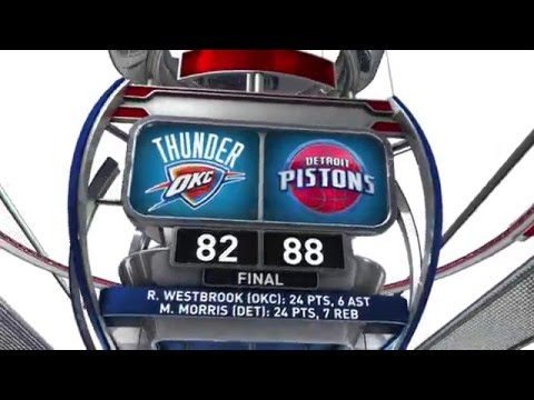 Oklahoma City Thunder vs Detroit Pistons - March 29, 2016