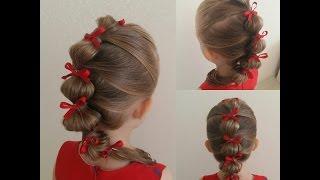 Hairstyles for girls -  Hurtig smukke frisure. Быстрая красивая прическа!