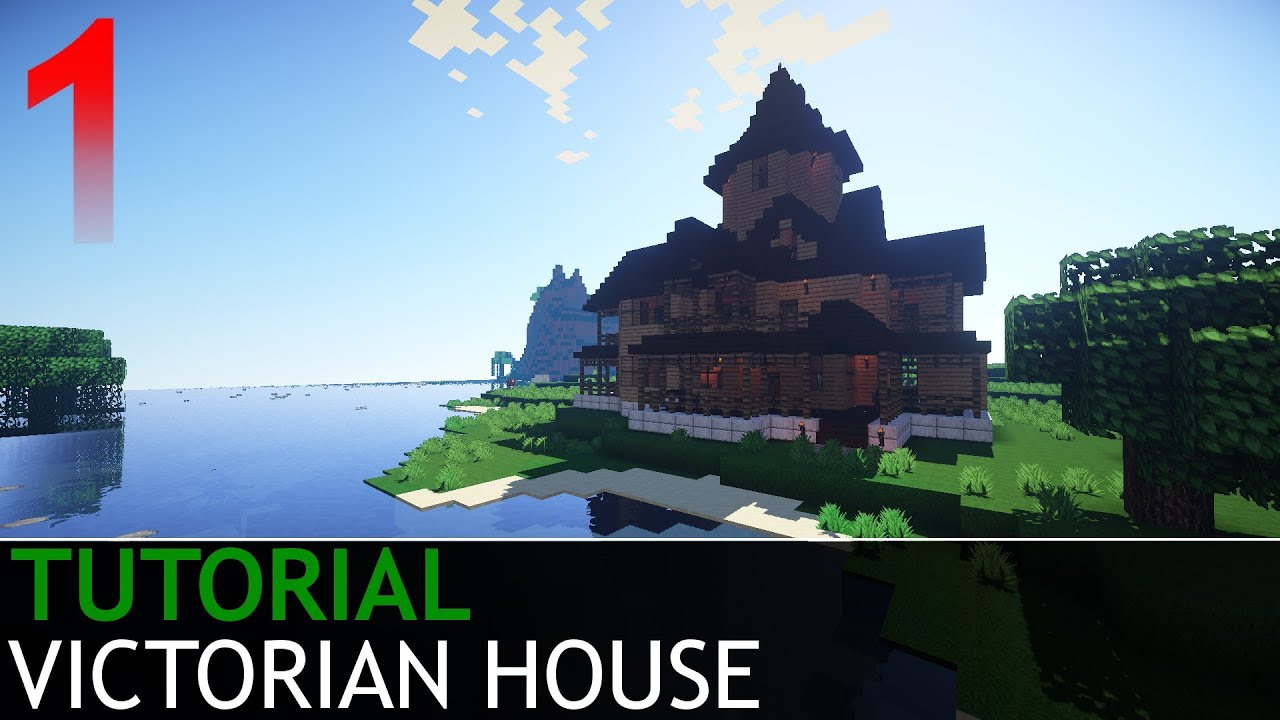 Minecraft how to build a victorian house part 1 5 for Building a victorian house