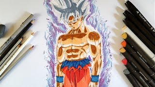 Drawing  Goku Mastered Ultra Instinct