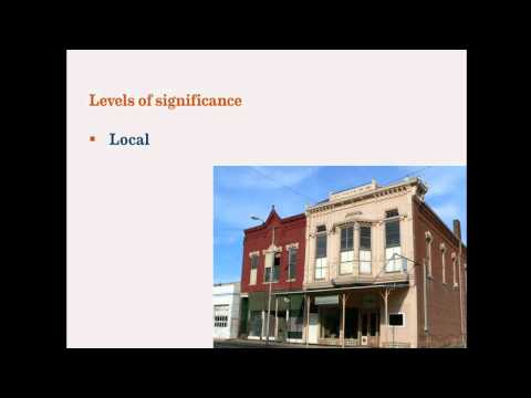 The basics of the National Register of Historic Places