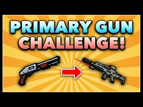 Pixel Gun 3D - Primary Gun Game Challenge! (Using ALL Primary Guns)
