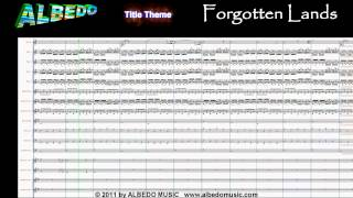 ALBEDO- Title Theme, Forgotten Lands (Scrolling Sheet Music Video) 1 of 18