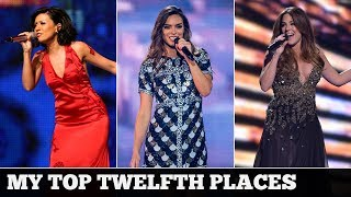 Eurovision TWELFTH PLACES (2000-2017) | My Top 18