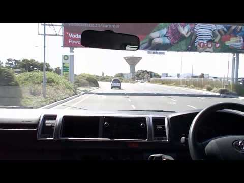 Driving from the airport in Cape Town