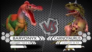 Baryonyx VS Carnotaurus Dinosaurs Colosseum Battle