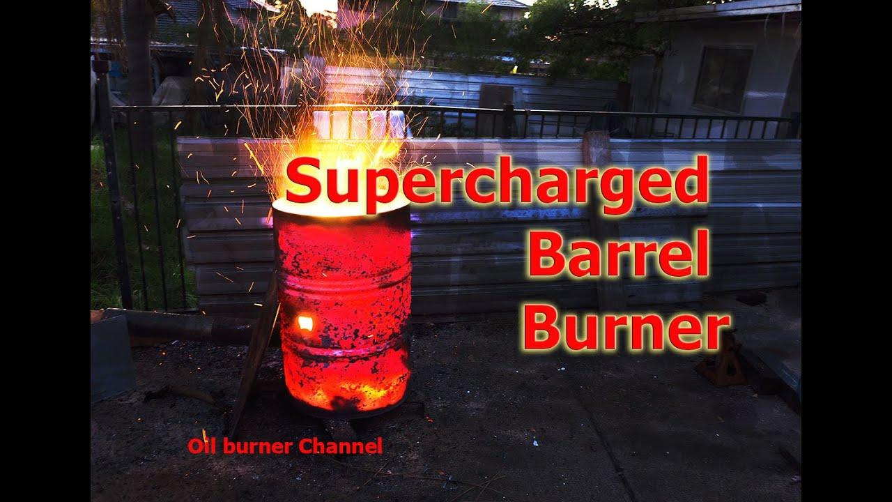 Turbo Burn Barrel Fan forced fast rubbish incineration