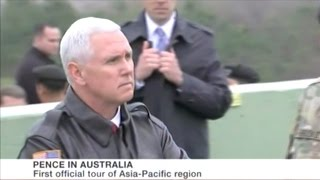 U.S Vice President Mike Pence Continues To Bang The Drums For War While In Australia