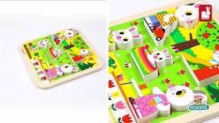Dřevěné puzzle pro nejmenší Zajíci na zahradě Chun