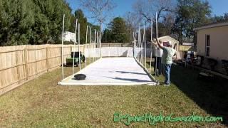 GREEN HOUSE/OrganicHydroGarden Show/ DIY GREENHOUSE PART 2 (of 4 Hydroponic Garden)