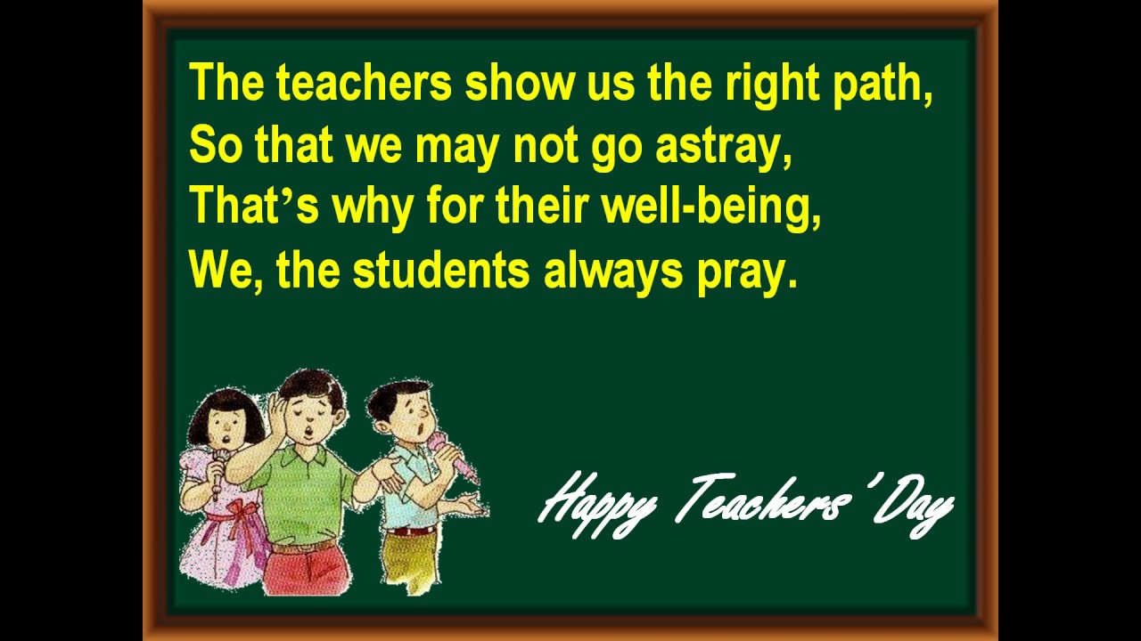 Teachers Day Poem In English