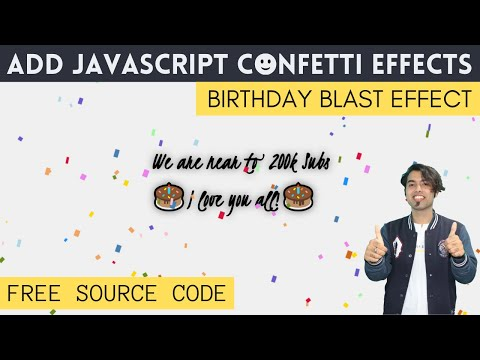 Confetti Falling Animation Effect JavaScript