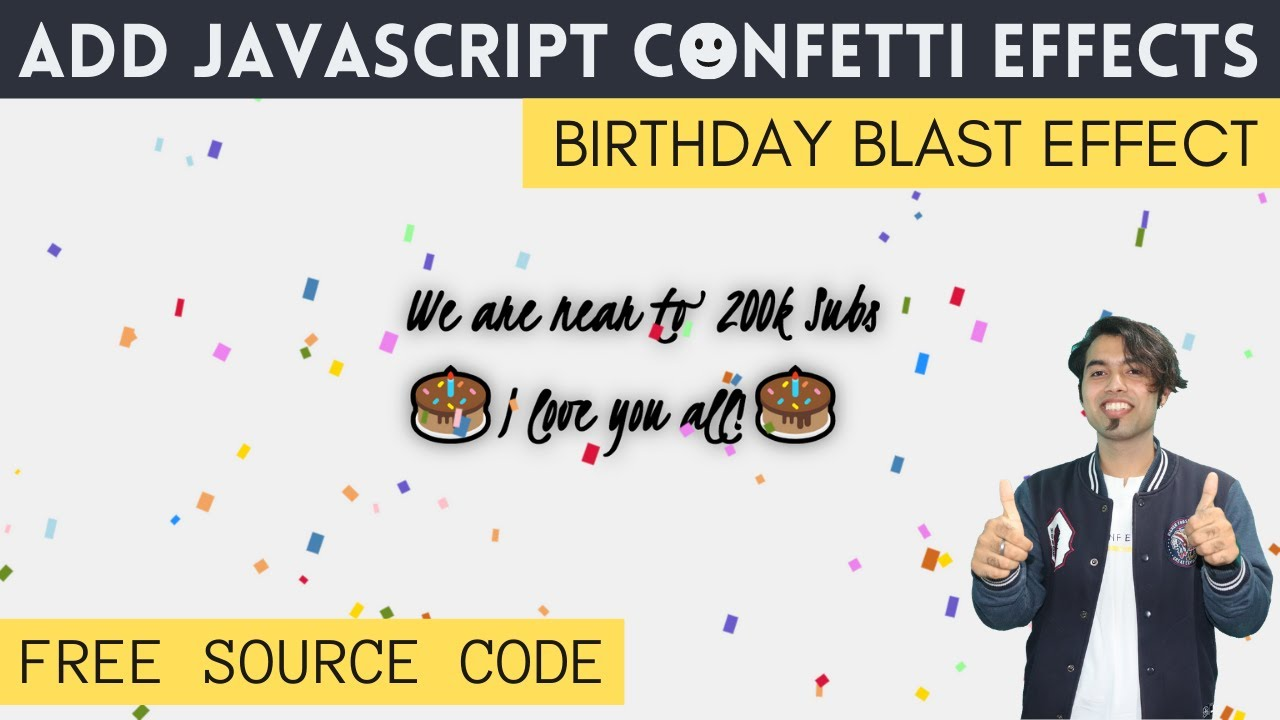 Add Confetti Falling Animation Effect to your Website
