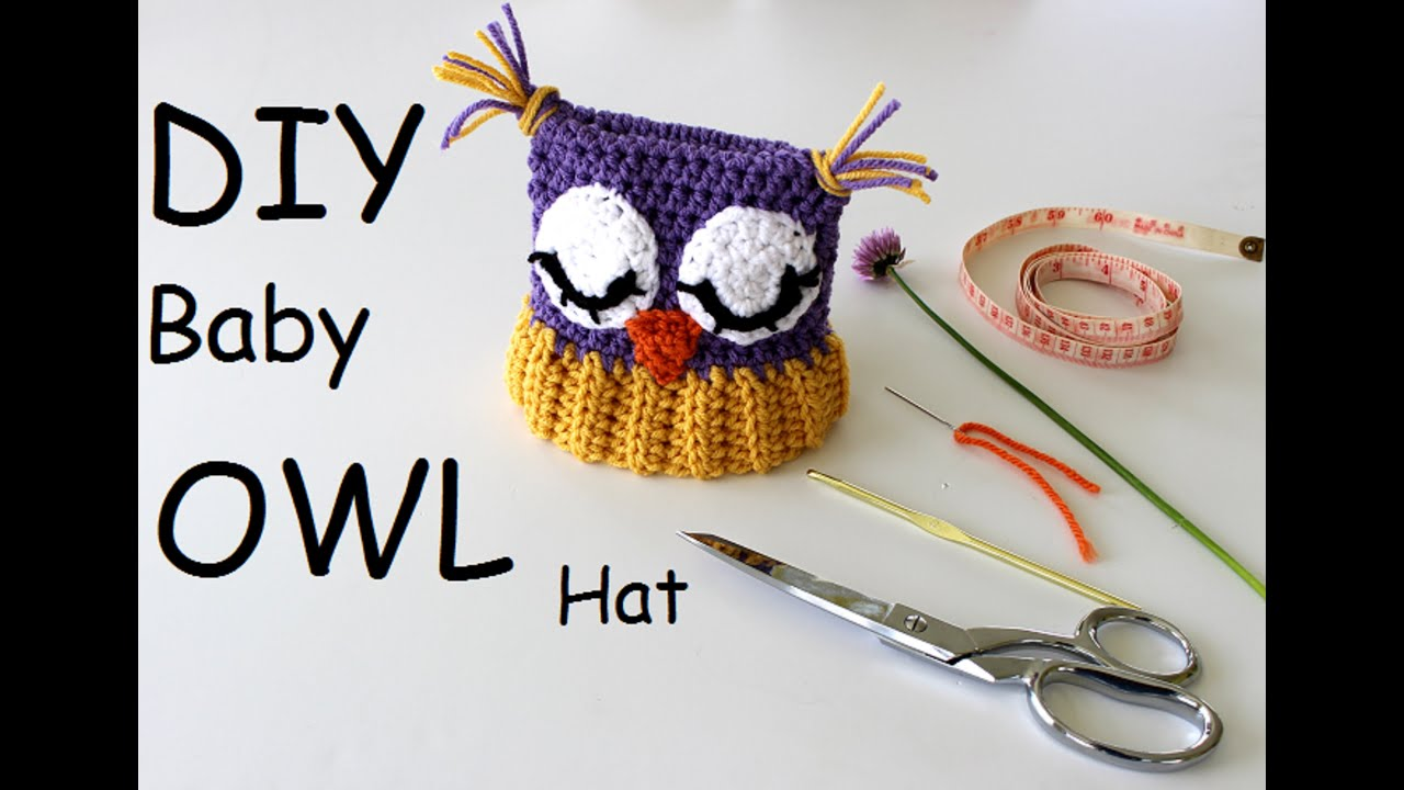 how to make this owl baby hat youtube