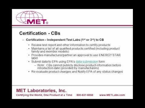 ENERGY STAR Testing and Certification