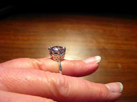 Rose de France Amethyst Filigree Sterling Silver Ring