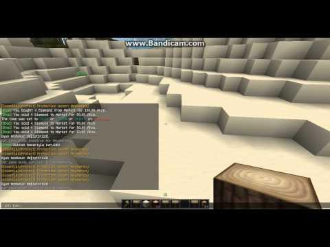 Minecraft Plugin Anlatımı ChestShop,AdminShop---Jobs----SimpleRegionMarket----iConomy.avi