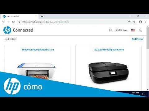 Cómo cambiar la dirección de correo electrónico de su impresora en HP Connected | Impresoras HP | HP