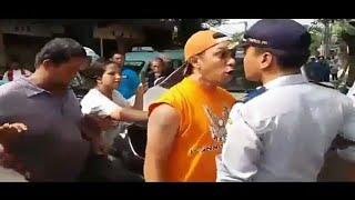 Parah!!!  SALAH SATU WARGA NGAMUK NANTANGIN POLISI