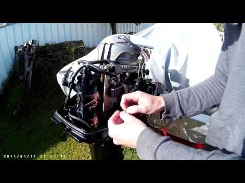 A cheap way of installing a rectifier/voltage regulator on a 30 HP Mariner/Mercury