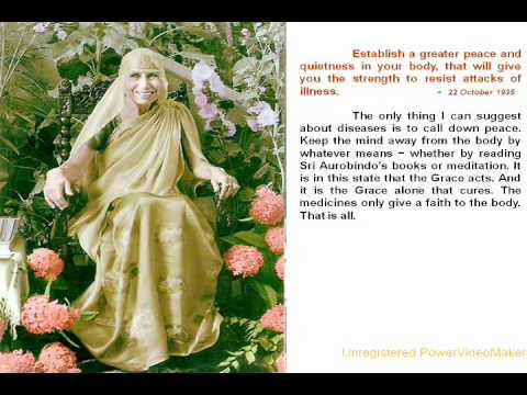 The Mother and Sri Aurobindo on Health Part I