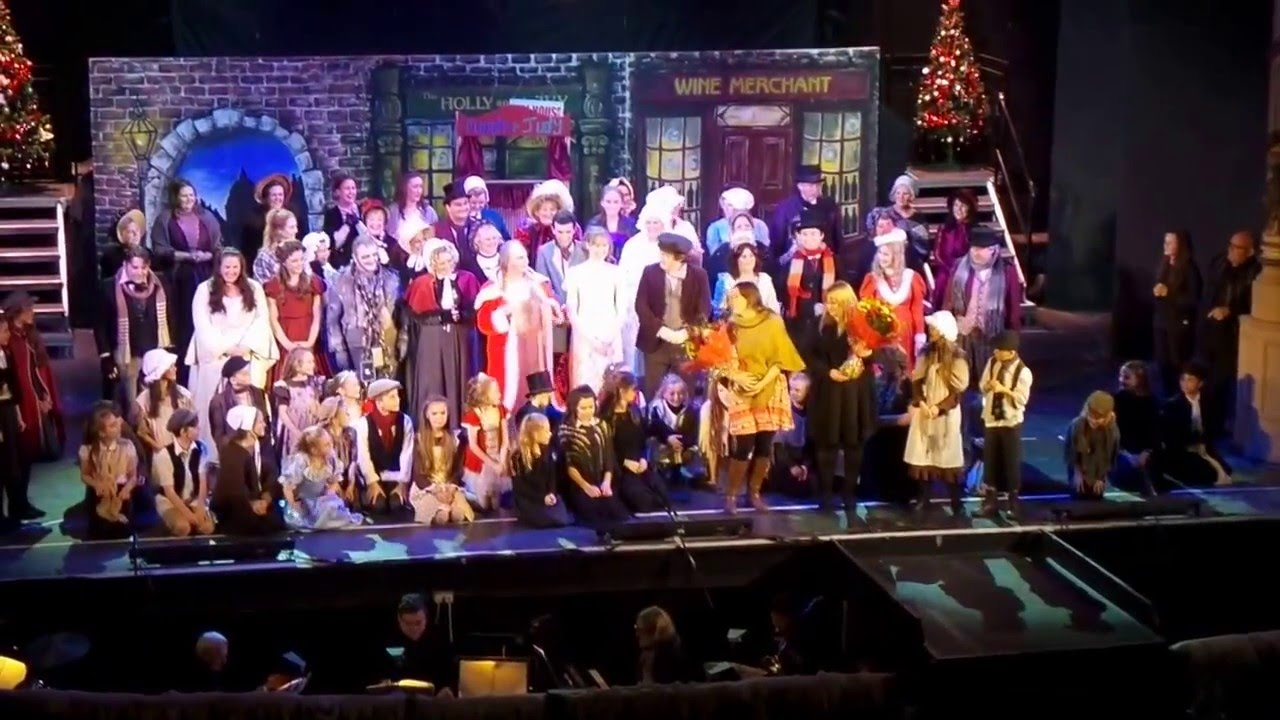 scrooge finale winter gardens theatre morecambe 2015 youtube