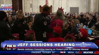 "MUST WATCH: Female Protester INTERRUPTS Jeff Sessions Confirmation Hearing, Calls Room ""Evil"" - FNN"