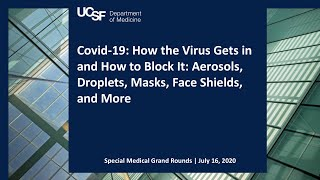 Covid-19: How the Virus Gets in and How to Block It: Aerosols, Droplets, Masks, Face Shields, & More