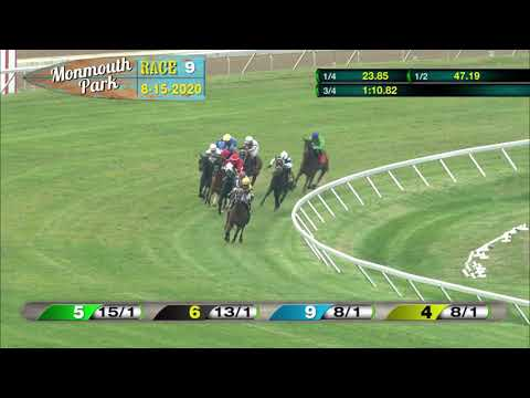 video thumbnail for MONMOUTH PARK 08-15-20 RACE 9