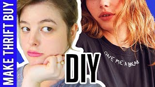 DIY Embroidered Collar Tee (VERY EASY) | Make Thrift Buy #58