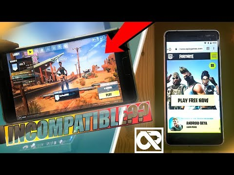 How To Play Fortnite Android On Compatible Devices - Fortnite On Incompatible Device(almost Worked!)