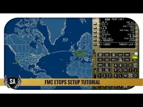 FMC ETOPS Setup Tutorial | PMDG 777 | KLAX✈EGLL example