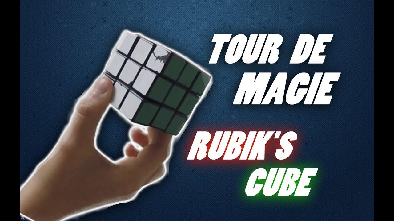 tour de magie avec un rubik's cube