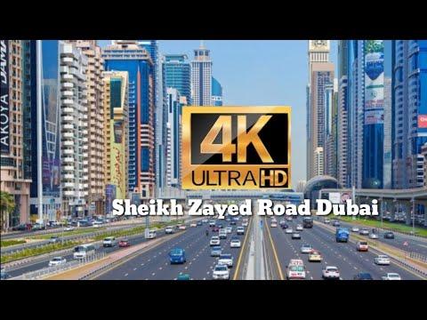 Dubai's Sheikh Zayed Road 4K video – 2019 / दुबई के शेख जायद रोड 4K वीडियो – 2019