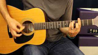 Kelly Clarkson Dark Side - How To Play - Acoustic Guitar Lesson - Beginner