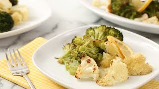 Roasted Broccoli and Cauliflower with Lemon and Garlic- Martha Stewart