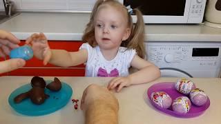 Минни Маус Киндер Сюрпризы на русском яйца для девочек Minnie Mouse Kinder Surprise Eggs