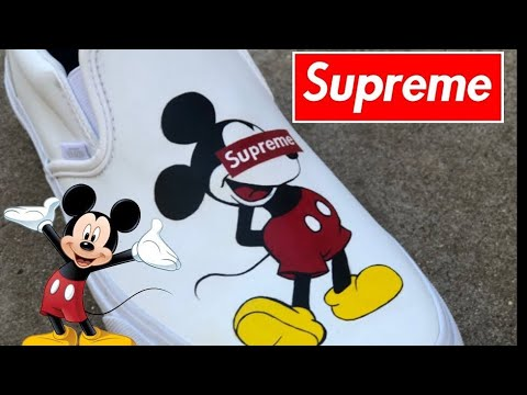 SUPREME X Mickey Mouse Vans.. MUST