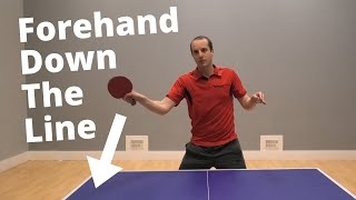 Forehand attack down the line...A simple shot to win cheap points