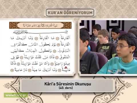 40. ders tekasür ve karia sã»re okunuşunihat temel ile kuran öğreniyorum bölüm 3