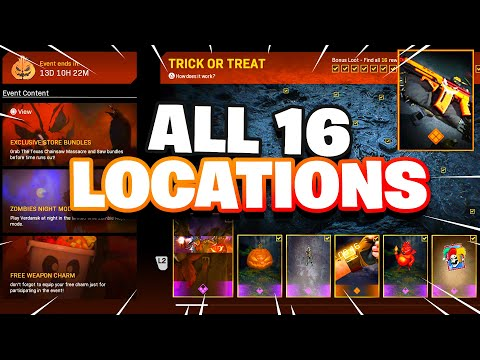 Warzone All Trick Or Treat Locations Unlock New Blueprint Youtube