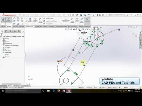 Tutorial Solidworks - Sketch & Modeling Arm Connector
